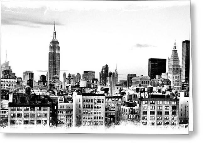 Manhattan  Greeting Card by Scott Snizek