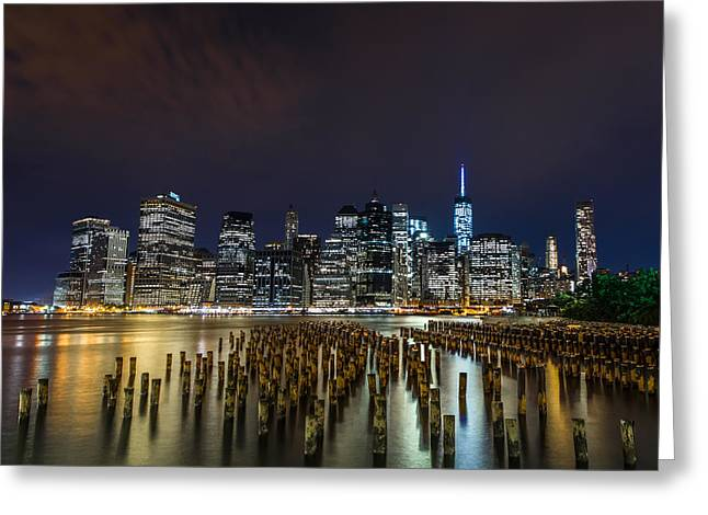 Manhattan Skyline - New York - Usa Greeting Card