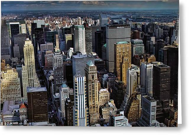 Manhattan Skyline 5 Greeting Card