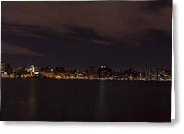 Manhattan Skyline Greeting Card by David Morefield