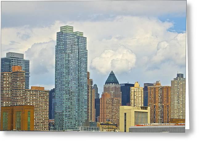 Manhattan Skyline II Greeting Card by Galexa Ch