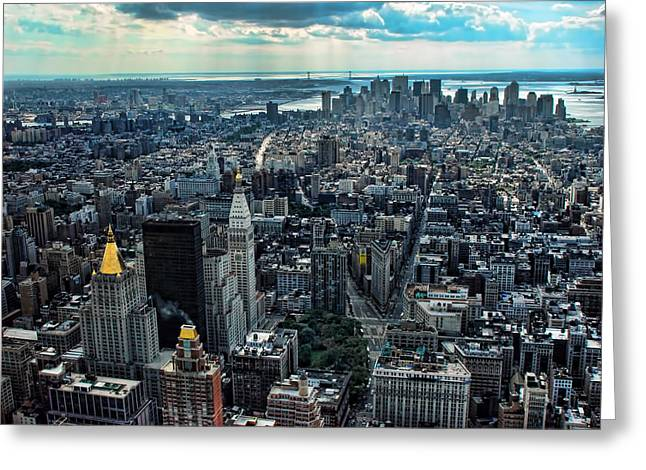 Manhattan Skyline Morning Time Greeting Card