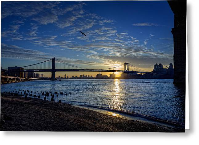 Manhattan Sunset Greeting Card