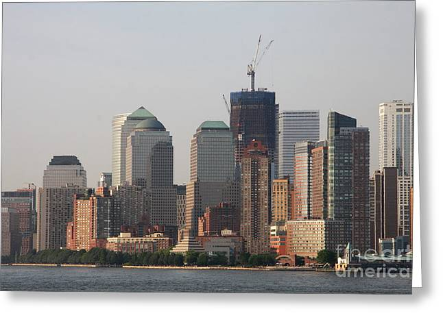 Manhattan View Greeting Card by Christiane Schulze Art And Photography