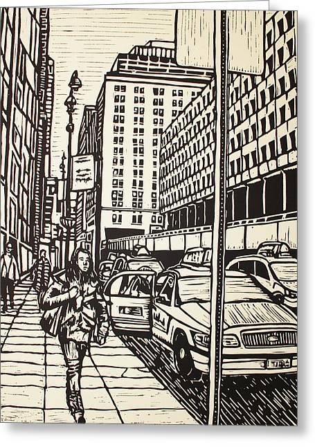 Manhattan Greeting Card by William Cauthern
