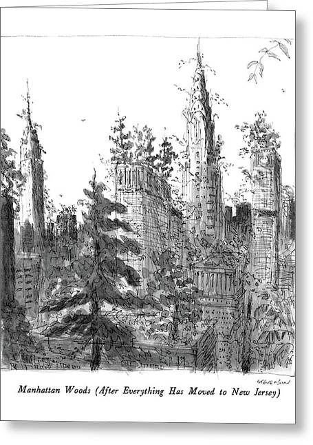Manhattan Woods Greeting Card