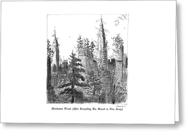 Manhattan Woods Greeting Card