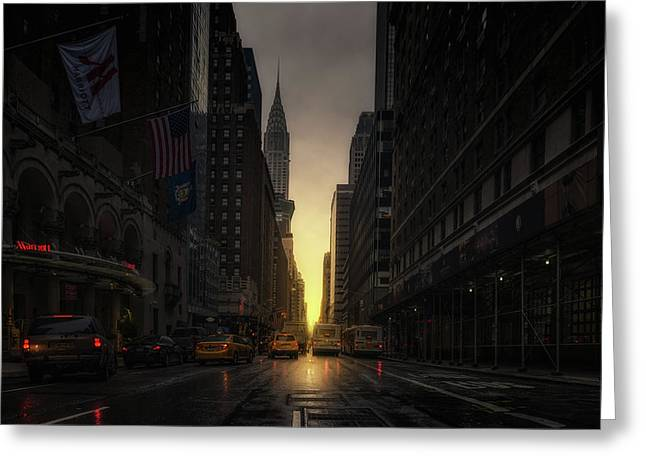 Manhattanhenge Greeting Card
