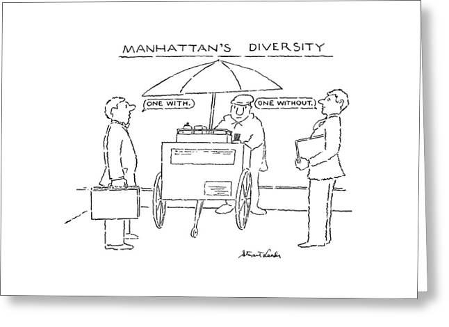 Manhattan's Diversity Greeting Card