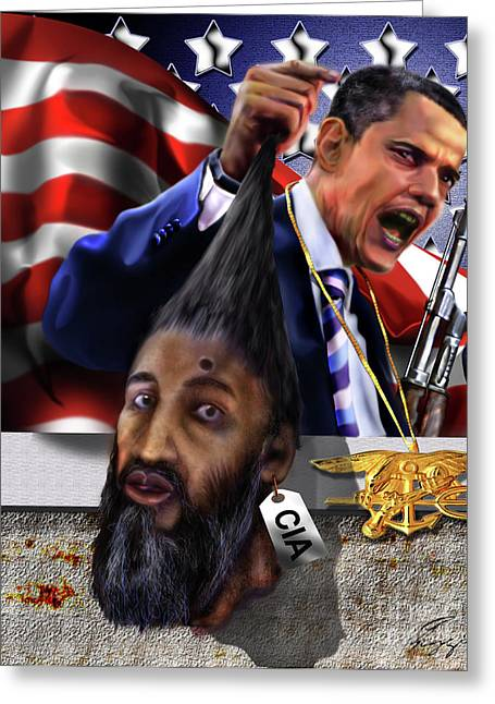Manifestation Of Frustration - I Am Commander In Chief - Period - On My Watch - Me And My Boys 1-2 Greeting Card by Reggie Duffie