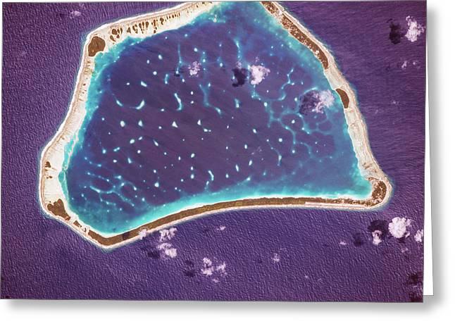 Manihiki Atoll Greeting Card by Nasa