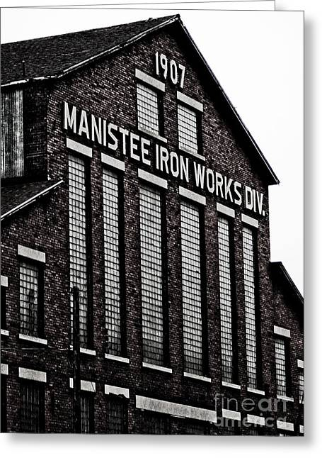 Manistee Iron Works Greeting Card