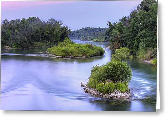 Manistee River At Dawn Greeting Card by Twenty Two North Photography