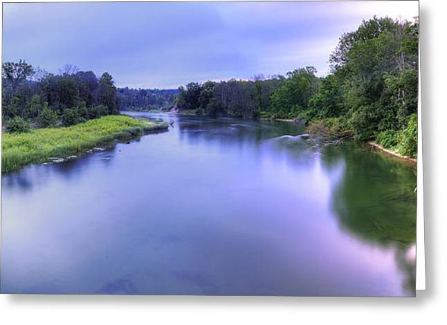 Manistee River From High Bridge Greeting Card by Twenty Two North Photography