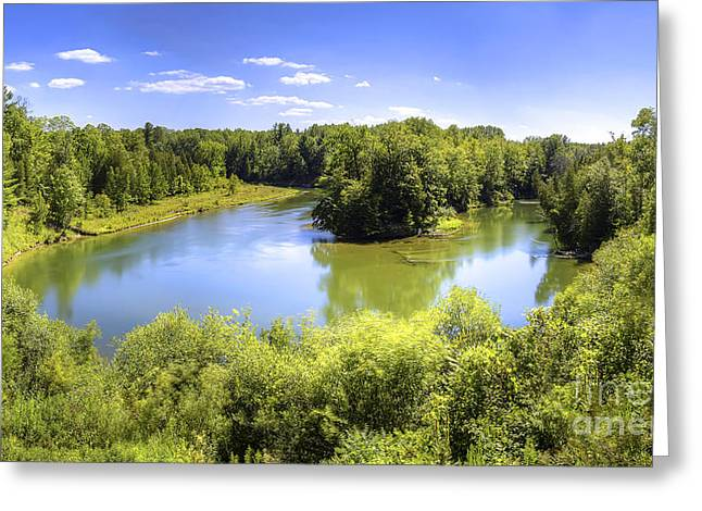 Manistee River In Summer Greeting Card by Twenty Two North Photography