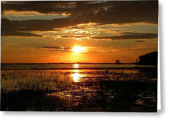 Manitoba Sunset Greeting Card