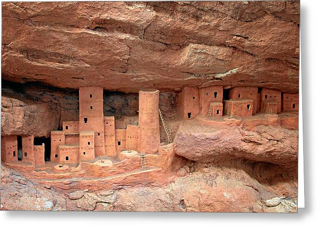 Manitou Cliff Dwellings Greeting Card by Christine Till