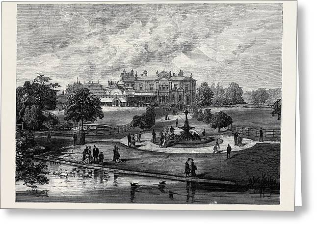 Manley Hall The New Public Park For Manchester 1880 Greeting Card by English School