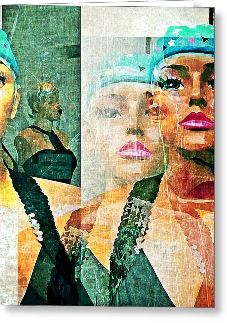 Mannequin 6 Greeting Card by Maria Huntley
