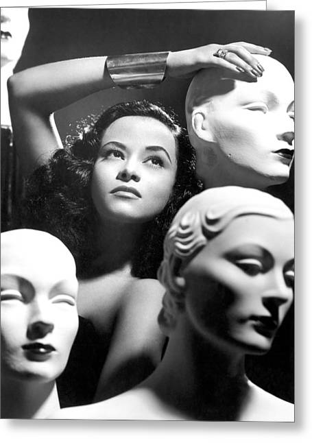 Mannequin Heads Greeting Card by Underwood Archives