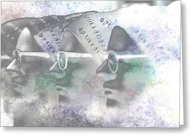 Mannequin With Glasses In Digital Art Greeting Card by Tommytechno Sweden
