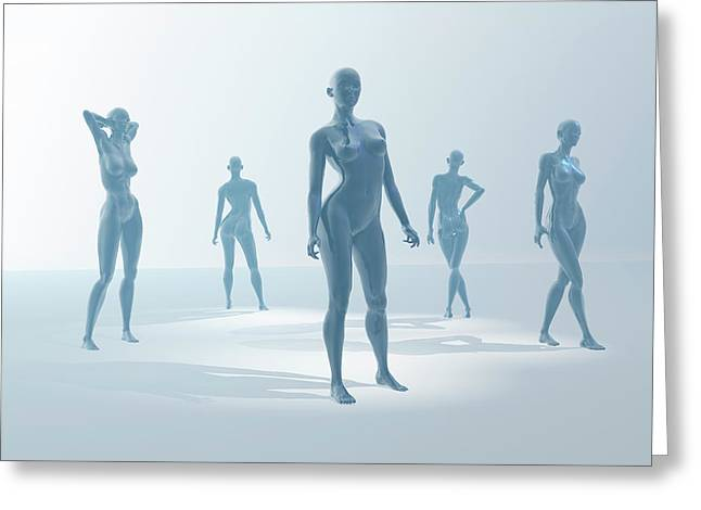 Mannequins Greeting Card