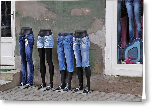 Mannequins In Draculas City Greeting Card by Ion vincent DAnu
