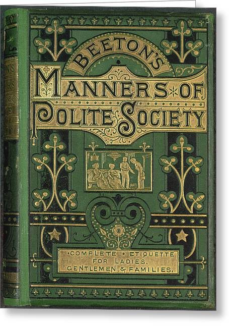 Manners Greeting Card by British Library