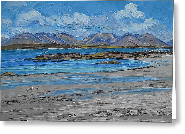 Mannin Bay Beach Ballyconneelly Connemara Greeting Card