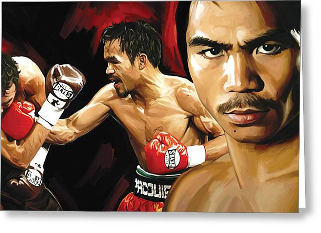 Manny Pacquiao Artwork 2 Greeting Card by Sheraz A