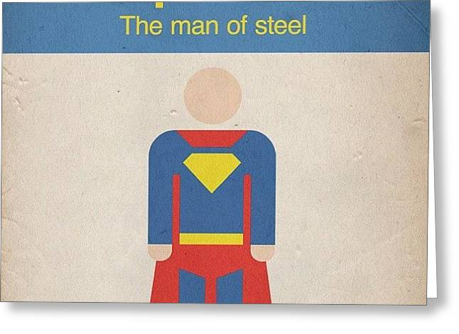 #manofsteel #steel #man #superman #hero Greeting Card