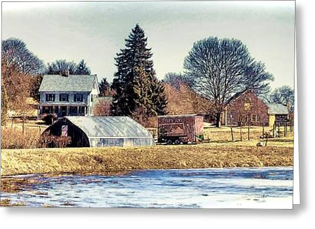 Greeting Card featuring the photograph Manomet Farm by Constantine Gregory