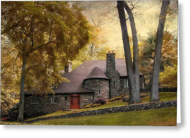 Manor House Greeting Card by Jessica Jenney