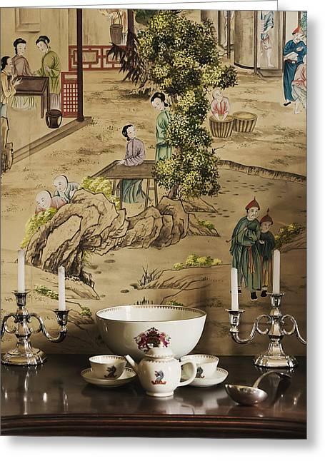 Manor Interior Greeting Card by Svetlana Sewell