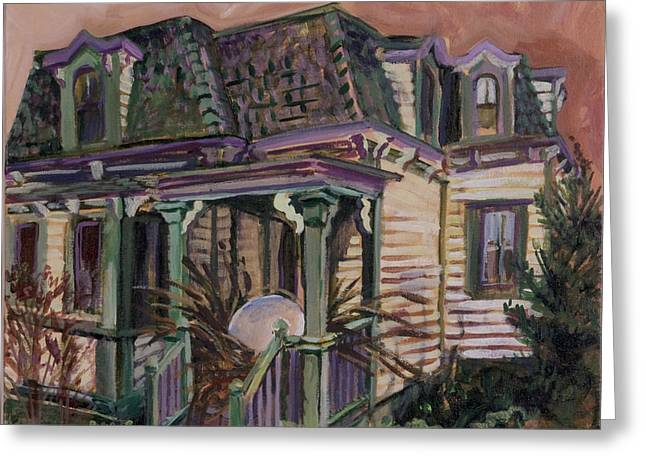 Mansard House With Nest Egg Greeting Card