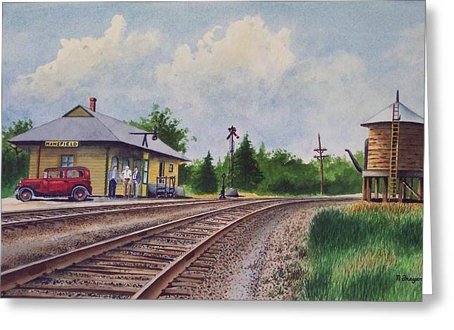 Mansfield Railroad Station Greeting Card