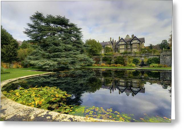 Mansion Garden Greeting Card by Ian Mitchell