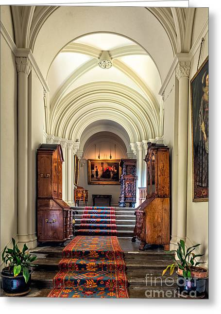 Mansion Hallway IIi Greeting Card by Adrian Evans