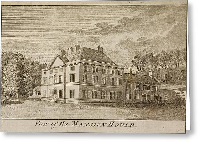 Mansion House Of Close House Estate Greeting Card by British Library