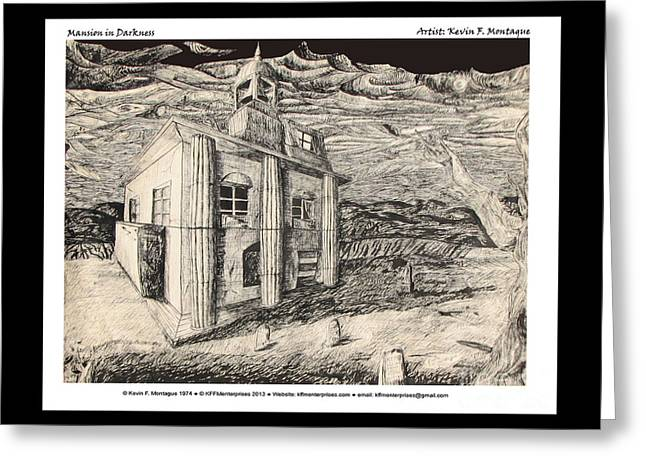 Mansion In Darkness Greeting Card by Kevin Montague