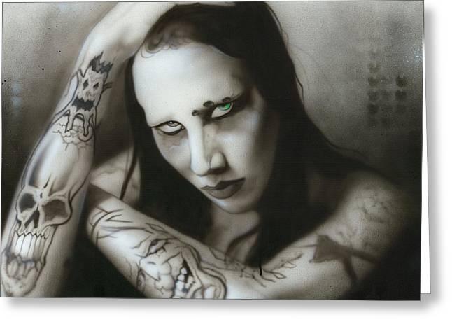 Manson IIi Greeting Card