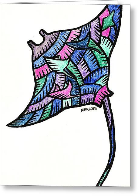 Manta Ray 2009 Greeting Card by Marconi Calindas
