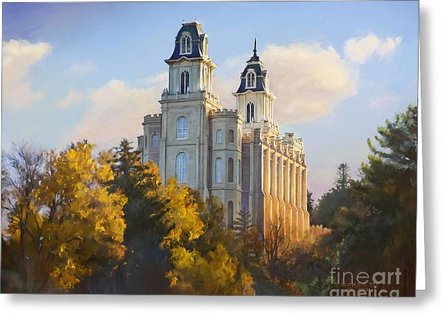 Manti Temple Greeting Card