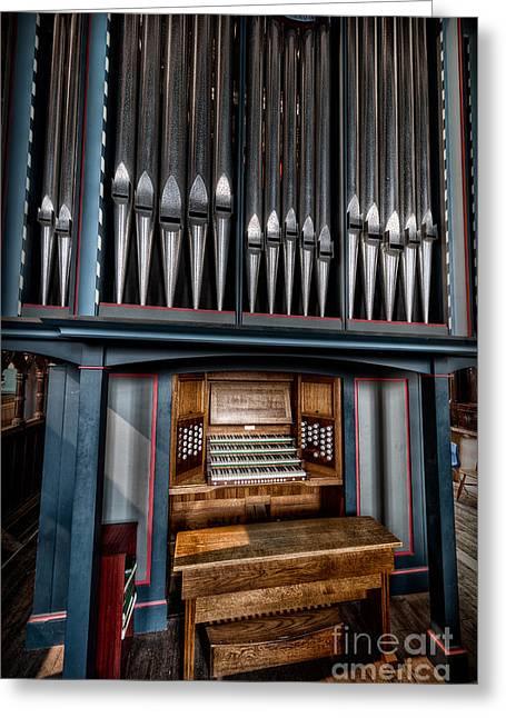 Manual Pipe Organ Greeting Card by Adrian Evans
