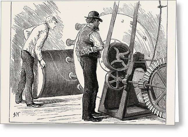 Manufacturing An Electric Telegraph Cable Coating Greeting Card