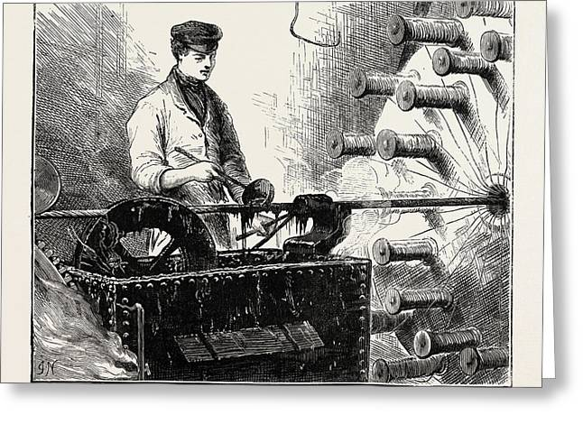 Manufacturing An Electric Telegraph Cable Covering Greeting Card