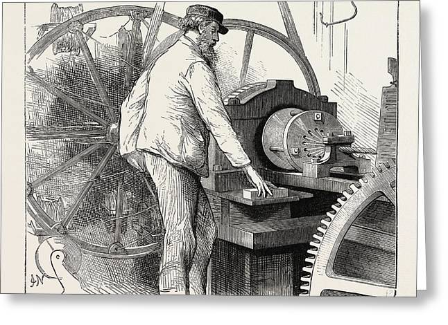 Manufacturing An Electric Telegraph Cable Covering The Core Greeting Card