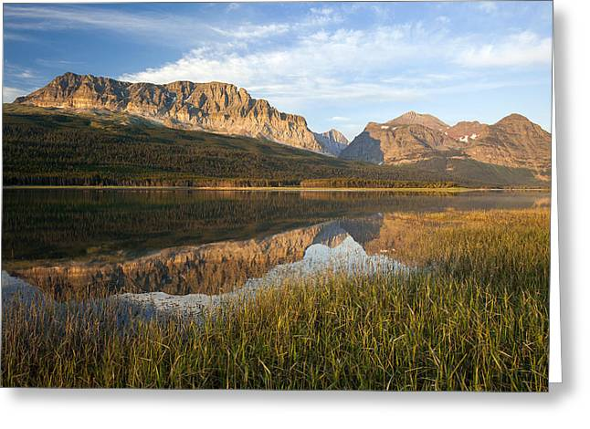 Greeting Card featuring the photograph Many Glacier Reflections by Jack Bell
