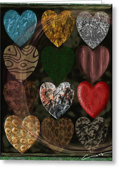 Many Types Of Love Greeting Card