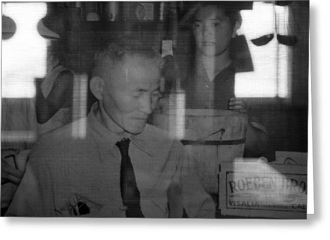 Manzanar-kitchen Worker  Greeting Card by Harold E McCray